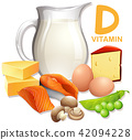 A Set of Food with Vitamin D 42094228
