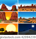 Set of diferent desert scenes 42094239