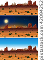 A Set of Desert Scene Day and Night 42094252