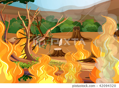 A Forest Wildfire Disaster 42094320