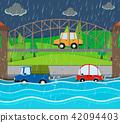car, flood, storm 42094403