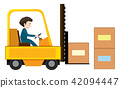 man, forklift, vector 42094447