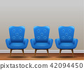 A Set of Classic Blue Armchair 42094450