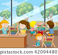 Students Learning with Abacus 42094480