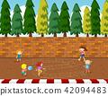 playground, children, illustration 42094483