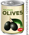 A Can of Kalamata Olives 42094485