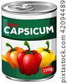 Can of diced capsicum 42094489