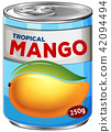 A Can of Mango Syrup 42094494