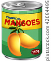 Can of tropical mangoes 42094495