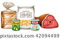 set different foods 42094499