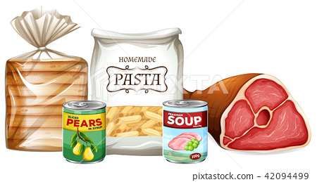 Set of different foods 42094499