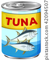 Can of fresh tuna 42094507