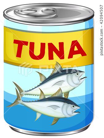 Can of fresh tuna 42094507