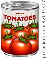 Can of whole tomatoes 42094517