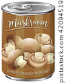 Can of mushroom champignons in brine 42094519