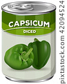 A Can of Diced Capsicum 42094524