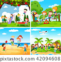 Set of scene of children playing 42094608