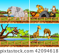 Set of scenes of animals 42094618