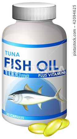 Capsule of Tuna Fish Oil 42094625