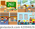 A Set of Children Learning Abacus 42094626