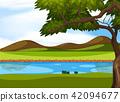 nature, vector, landscape 42094677