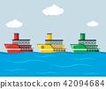 ocean, vector, illustration 42094684