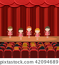 A Group of Girls Performing on Stage 42094689
