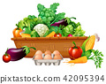 Various vegetables in a basket 42095394