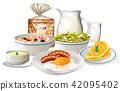 set, breakfast, meal 42095402