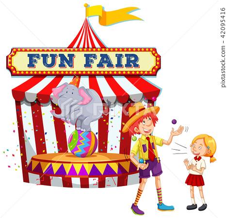 Fun Fair Show on White Background 42095416