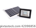 Small solar panel and spotlight for home. 42096856