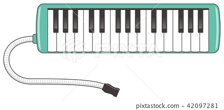 Image illustration of keyboard harmonica - Stock