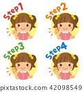 女孩一步圖標 42098549