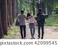 Young tourists to travel in the forest, 42099545