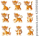 Tiger cartoon set collection 42099560