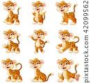 animal cartoon leopard 42099562