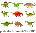Set of cartoon dinosaurs collections 42099905