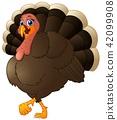Funny cartoon turkey 42099908