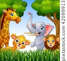 Cartoon collection animals in the jungle 42099913