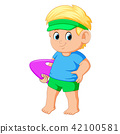 boy cartoon summer 42100581