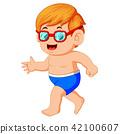 boy cartoon summer 42100607