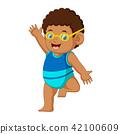 boy cartoon summer 42100609