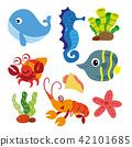 marine life vector collection design 42101685