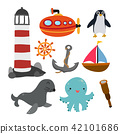 marine life vector collection design 42101686