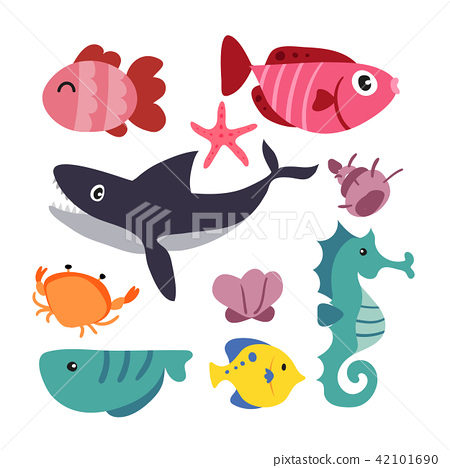 marine life vector collection design 42101690