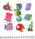 marine life vector collection design 42101695