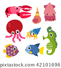 marine life vector collection design 42101696