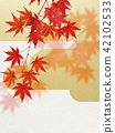 ญี่ปุ่น - พื้นหลัง - ฤดูใบไม้ร่วง - ใบไม้เปลี่ยนสี - ทอง 42102533