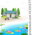 和尚 蓮花 池塘 42103277