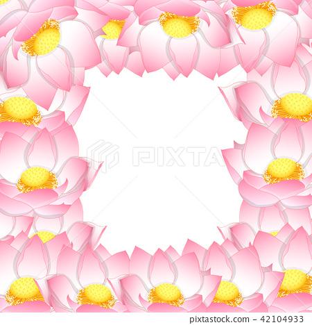 Pink Indian lotus Border 42104933